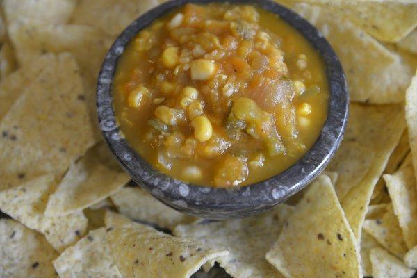 Roasted Tomato and Corn Salsa